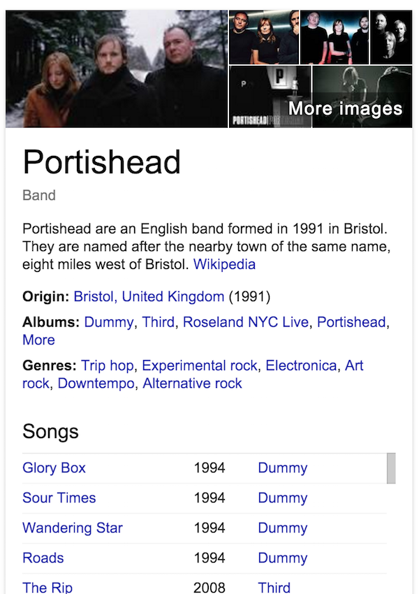 portishead-google-search-knowledge-graph