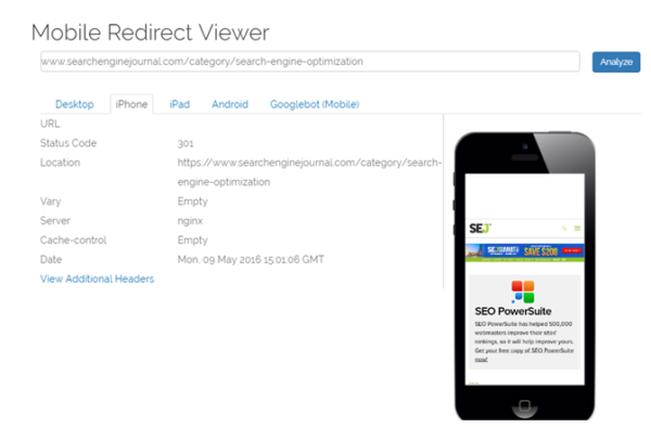 Mobile-Redirect-Viewer