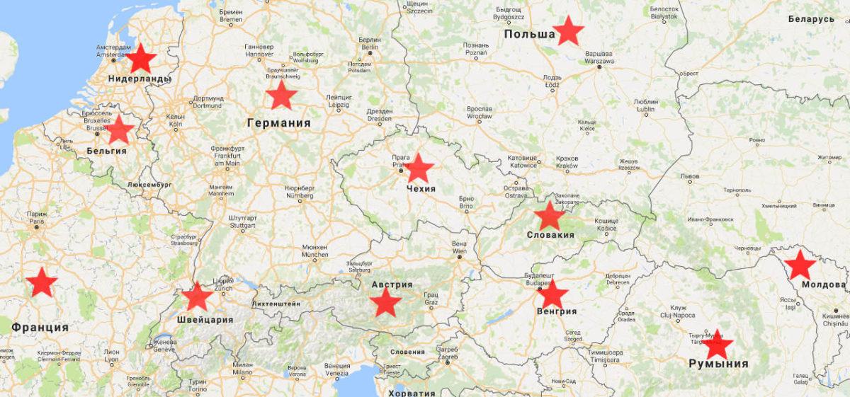 карта наступления советских войск