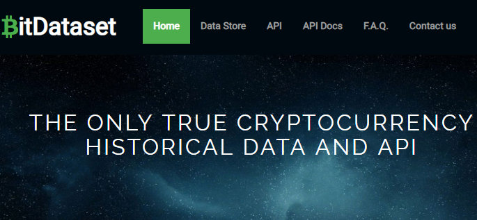 CRYPTOCURRENCY HISTORICAL DATA AND API